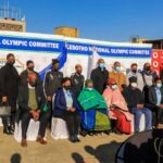 Team Lesotho send off ceremony